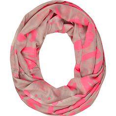 Pink graffiti print snood - scarves - accessories - women