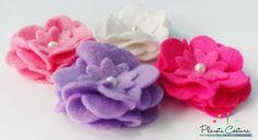 Planeta Costura: Como hacer flores de fieltro