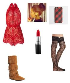 """""""cute"""" by jadahoran123 ❤ liked on Polyvore featuring Lover, Minnetonka, MAC Cosmetics, J.Crew and Charlotte Russe"""