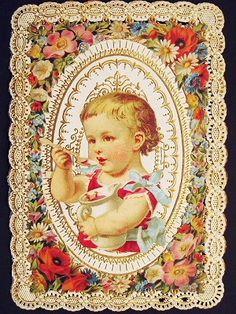 レースペーパー・カード - イギリスとフランスのアンティーク | バラと天使のアンティーク | Eglantyne(エグランティーヌ)
