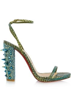 christian louboutin crocodile embellished sandals