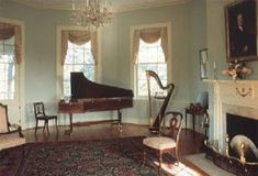 Music room inspiration, the room is also a parlour which Grace uses primarily but is for less large meetings so not to require the larger formal dining room. Georgian Interiors, Georgian Homes, Victorian Homes, Victorian Parlor, Victorian Gothic, Gothic Lolita, Music Room Art, Home Music Rooms, Regency House