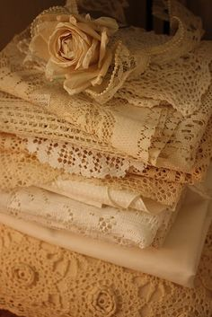 Remember to work old laces into clothing projects, such as a rectangular crocheted dresser runner could become the back yoke and the sleeve treatment of a blouse.