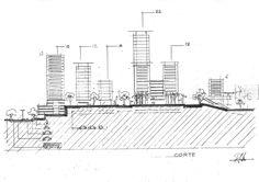 Croqui Corte Projeto Urbano - Palhoça
