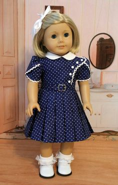 1930s Dress for Dolls Like Kit or Ruthie by BabiesArtUs on Etsy