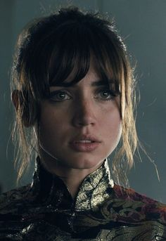 """""""Mere data makes the man. The alphabet of you, all from four symbols."""" Ana de Armas as Joi in BLADE RUNNER 2049 - Dir. Blade Runner 2049, Cyberpunk Art, Harrison Ford, Ryan Gosling, Fantasy Girl, Jared Leto, Woman Face, Beautiful Actresses, Pretty Face"""