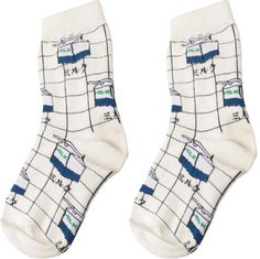 Milk Grid Socks - Thumbnail 2