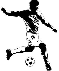 "RoomMates RMK1326GM Soccer Player Peel & Stick Giant Wall Decal by RoomMates. $17.99. From the Manufacturer Score big with this oversized soccer player wall sticker. At close to five feet tall, this large black & white decal brings all the action and excitement of a soccer game right into your room. You can almost hear the announcer scream ""GOAAAAALLL!"" Coordinates great with all of our other sports decals and borders (sold separately). A must-have gift for socce..."
