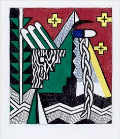 ROY LICHTENSTEIN - TWO FIGURES WITH TEEPEE - GREGG SHIENBAUM FINE ART MIAMI http://www.widewalls.ch/artwork/roy-lichtenstein/two-figures-with-teepee/ #MixedMedia