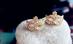 jewels mask earrings rose gold rose gold jewelry