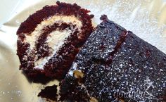 Chocolate Swiss Roll with Salted Caramel Frosting - The Flavor Bender Cakes Made With Oil, Just Desserts, Dessert Recipes, Cake Recipes, Chocolate Swiss Roll, Delish Cakes, Salted Caramel Frosting, Brownie Cake, Brownies