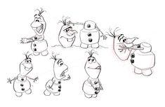 Olaf, character design sheet