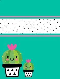 Cactus House Plants, Cactus Decor, Cactus Art, Indoor Cactus, Graduation Certificate Template, Teacher Binder Covers, College School Supplies, Printable Planner, Printable Calendars