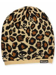 Leopard Skull Beanie by Loungefly
