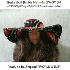 Basketball Brim Beach Barbie Doll Hat by MrsCraftyRVing on Etsy, $3.00 #handmade #Barbie #dollsclothes