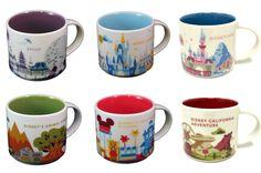 Full Collection of the Disney Starbucks Mugs