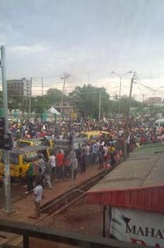 Photos: Protest in Enugu state over election result announcement | horshaw's Blog