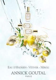 Still life by Candice Milon - Parfum Eau d'Adrien par Annick Goutal - Mini colognes, Vetiver et Neroli