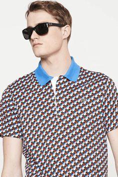 Lacoste   Short Sleeve Interlock All Over l Print Polo Shirt #lacoste #polo #shirt