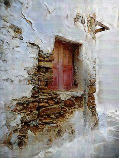 Corner Window / a corner window in Mykonos, Greece -by Jim Laskovicz