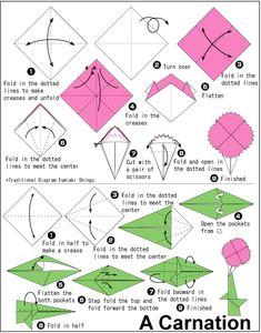 Origani bed origami pinterest letti trapunta e trapunte da letto carnation httporigamiforkidsorigami paper flower design mightylinksfo