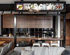 Aranżacje wnętrz - Salon: Apartament w Gdańsku - Duży salon z kuchnią z jadalnią, styl nowoczesny - SIKORA WNĘTRZA. Przeglądaj, dodawaj i zapisuj najlepsze zdjęcia, pomysły i inspiracje designerskie. W bazie mamy już prawie milion fotografii!