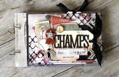 Make this sporty mini album using products from the new Prima Allstar collection. Album designed by Cari Fennell.
