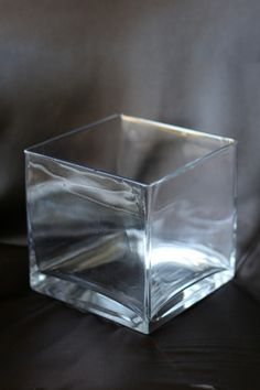 We carry a line of clear vases at www.cvlinens.com!
