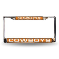 Oklahoma State Cowboys NCAA Laser Chrome Frame