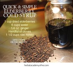 Quick and Simple Elderberry Cold Syrup | Herbal Academy of New England