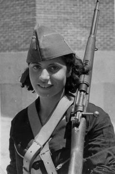 "Spanish Republican Soldier 1930s - Republican Women during the Spanish Civil War"" by Dolores Martín Moruno"