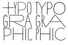 hand drawn type.