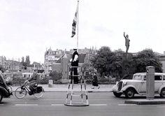 Amsterdam, Verkeersagent Nassauplein 1954.