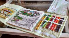 Case porta livro para colorir