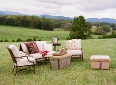 outdoor lounge set-up   Jen Fariello #wedding