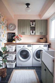 Love the laundry basket storage