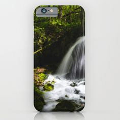 Magical waterfall in enchanting green forest iPhone 6 7 & Samsung Galaxy S8 S7 Case by Patrik Lovrin Photography | Society6 #photography