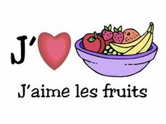 J'AIME LES FRUITS Alain le Lait.m4v have students watch and list which fruits are in the song.