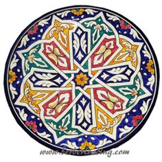 Touareg Ceramic Plate (we can get an assortment for the market area)