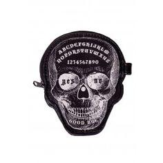 Porte Monnaie Gothique Rock Tête de Mort Ouija
