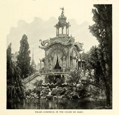The Palais Lumineux at the Champ de Mars during the Exposition Universelle, Paris