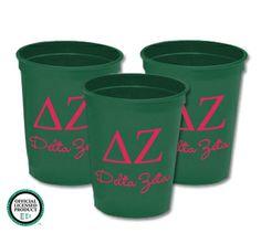 Personalized Delta Zeta Stadium Cups