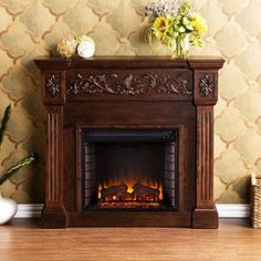 Calvert Electric Fireplace Package in Espresso FE9278 $599.99
