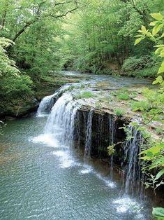 Princess Falls, Daniel Boone National Forest, KY - photo by Barb Richardson #kentucky #hiking #waterfalls