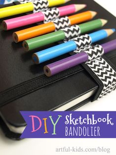 DIY Sketchbook Bandolier