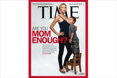Time magazine cover shows mom breast-feeding young son