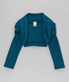 Take a look at this Teal Bolero by Just Kids on #zulily today!