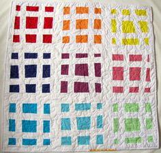 grumpystitches:  Sustenido Baby Quilt by Fá Giandoso . Farfalla Gialla on Flickr.