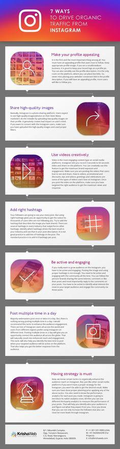 7 Ways to Drive Organic Traffic from Instagram #traffic #Instagram #SocialMedia #Marketing