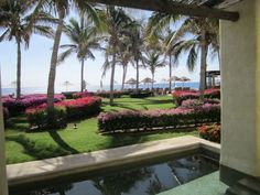 We love the lush grounds at Secrets Marquis Los Cabos resort in Mexico!